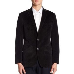 REACTION KENNETH COLE Velvet Trim Fit Sport Coat